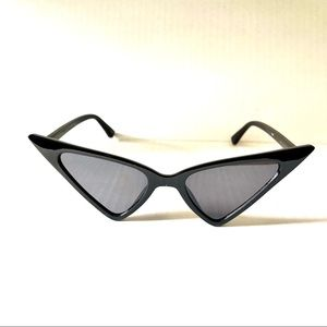 Black Extreme Cateye Sunglasses
